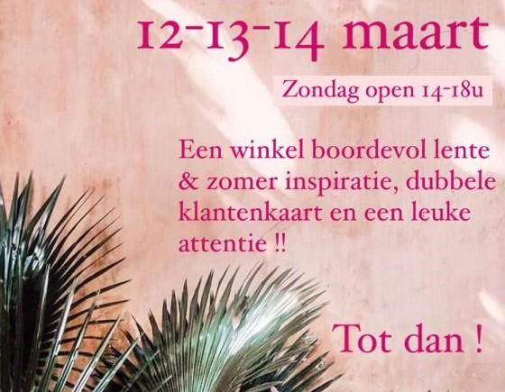 Opendeurweekend 12,13 en 14 maart